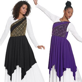 85567- Womens Divine Royalty One Shoulder Praise Tunic