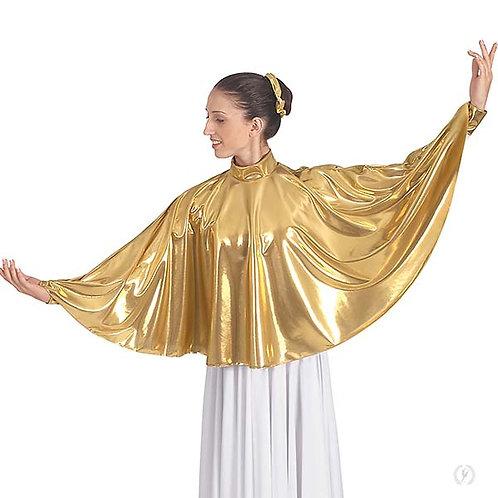 14739 - Eurotard Womens Guiding Light Metallic Mock Neck Praise Cape