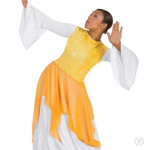 13849 - Eurotard Womens Sparkling Handkerchief Style Praise Tunic