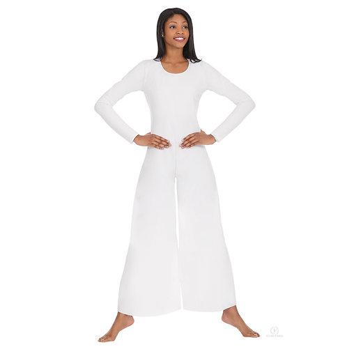 13842 - Eurotard Womens Simplicity Polyester Long Sleeve Wide Leg Praise Jumpsui
