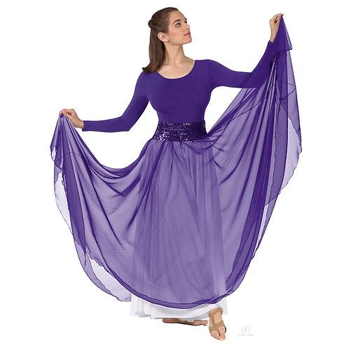 39746 - Eurotard Womens Sheer Devotion Chiffon Full Length Praise Skirt