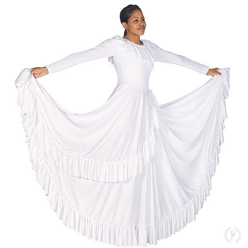 13779 - Eurotard Womens Revelation Ruffle Long Sleeve Praise Dress