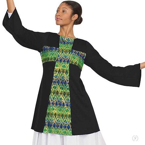 63565 - Eurotard Unisex Joyful Praise Cross Front Worship Tunic