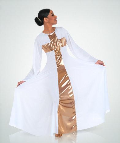 Girls Praise Cross Long Dress