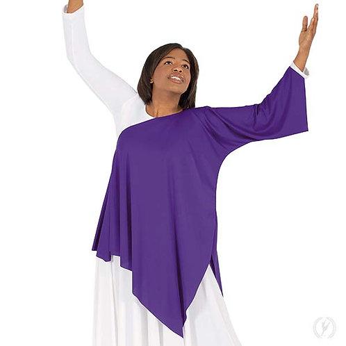 13826 - Eurotard Womens Quiet Prayer Polyester One Shoulder Praise Tunic