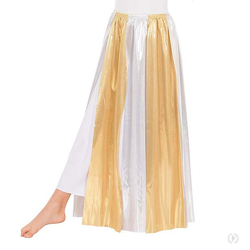 14808c - Eurotard Girls Metallic Paneled Praise Skirt Overlay