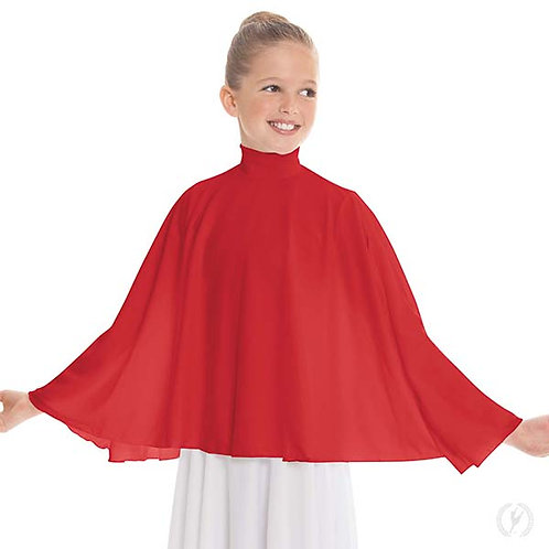 13739c - Eurotard Girls Polyester Mock Neck Praise Cape