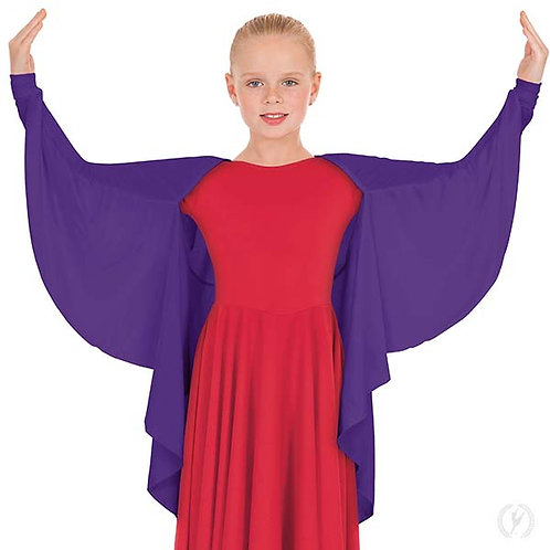 13800c - Girls Polyester Angel Wing Praise Shrug