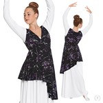 83829- Womens Opulent Orchid Wrap Front Dance Overlay