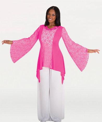 Drapey Lace Panel Tunic