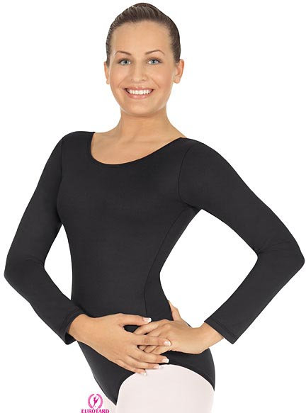 Long Sleeve Leotard Scoop Neck Child