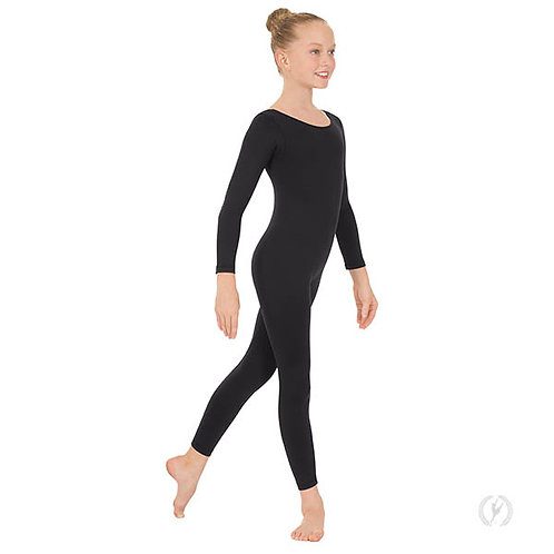 10529 - Eurotard Youth Unisex Long Sleeve Unitard with Cotton Lycra®