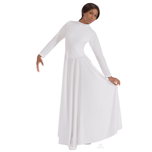13847 - Eurotard Womens Simplicity Front Lined High Neck Praise Dress