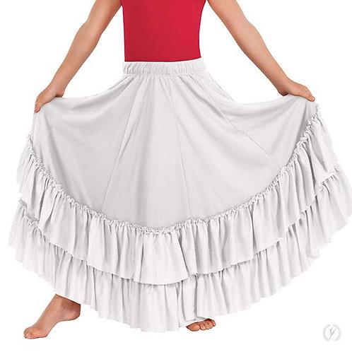 08803c - Eurotard Girls Revelation Full Length Praise Skirt with Double Ruffle B
