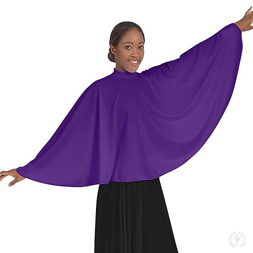 13739 - Eurotard Womens Polyester Mock Neck Praise Cape