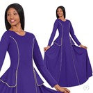 13857 -Womens Angelic Sophisticate Long Sleeve Praise Dress