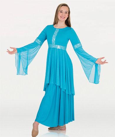Girls Drapey Lace Panel Tunic