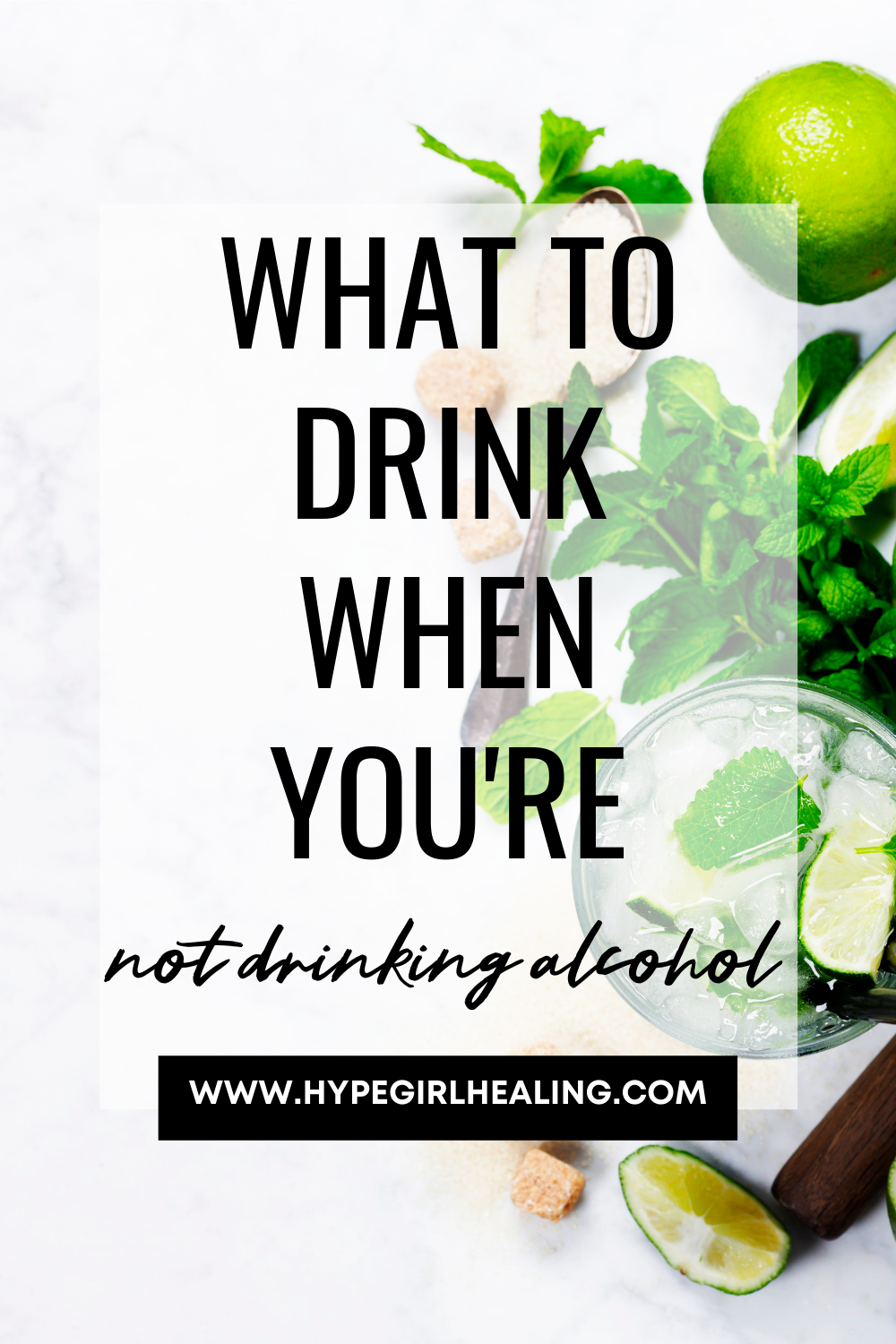 Limes and mint for mocktail drink ideas for sober living