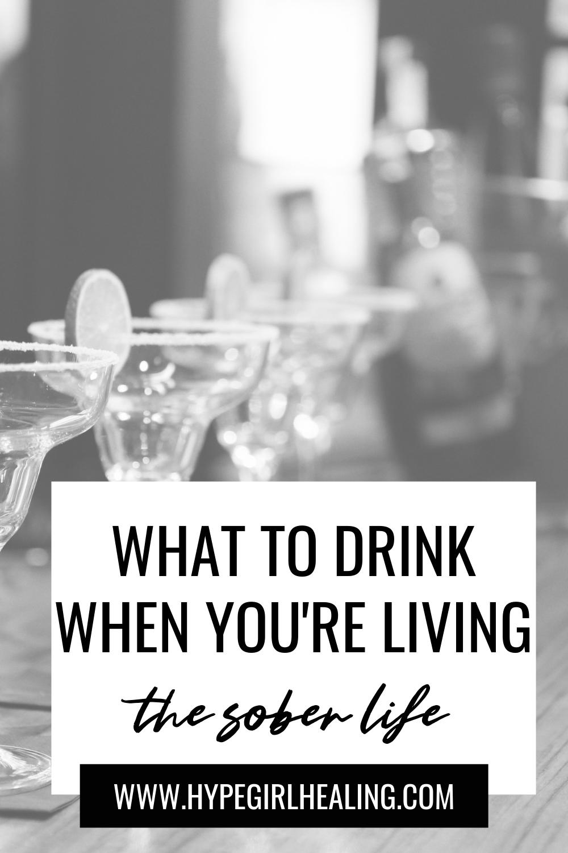 Black and white mocktail drink ideas for sober living