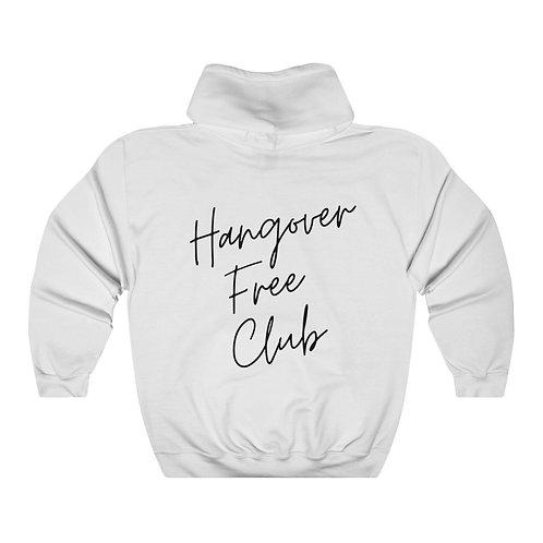 """Hangover Free Club"" Unisex Heavy Blend™ Hooded Sweatshirt"