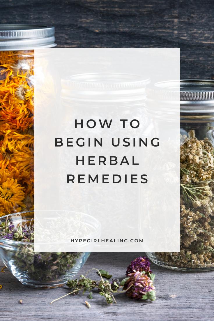 herbal remedies in a bowl to make herbal medicine