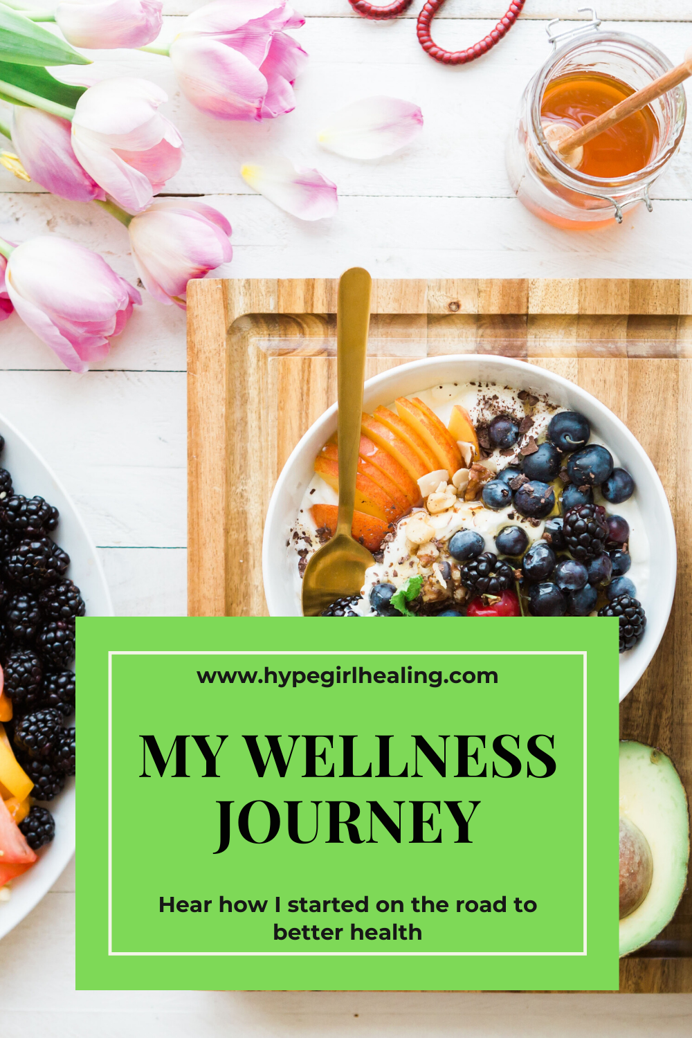 Bowl of yogurt and fresh fruit with honey for better, improved health and wellness