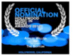 """Ashlee Williss HMMA Hollywood Music in Media Awards Nomination Certificate for Best Pop Song """"The Bottom"""""""