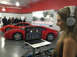DJ Bad Ash at Exotic Cars event