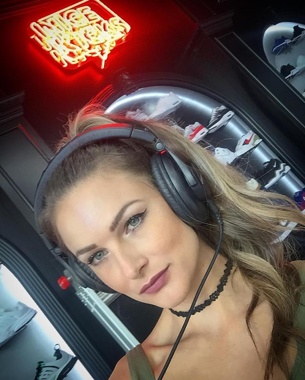 DJ Bad Ash at Nice Kicks launch event DTLA