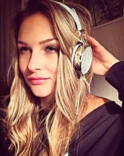 Dj Bad Ash sparkly headphones