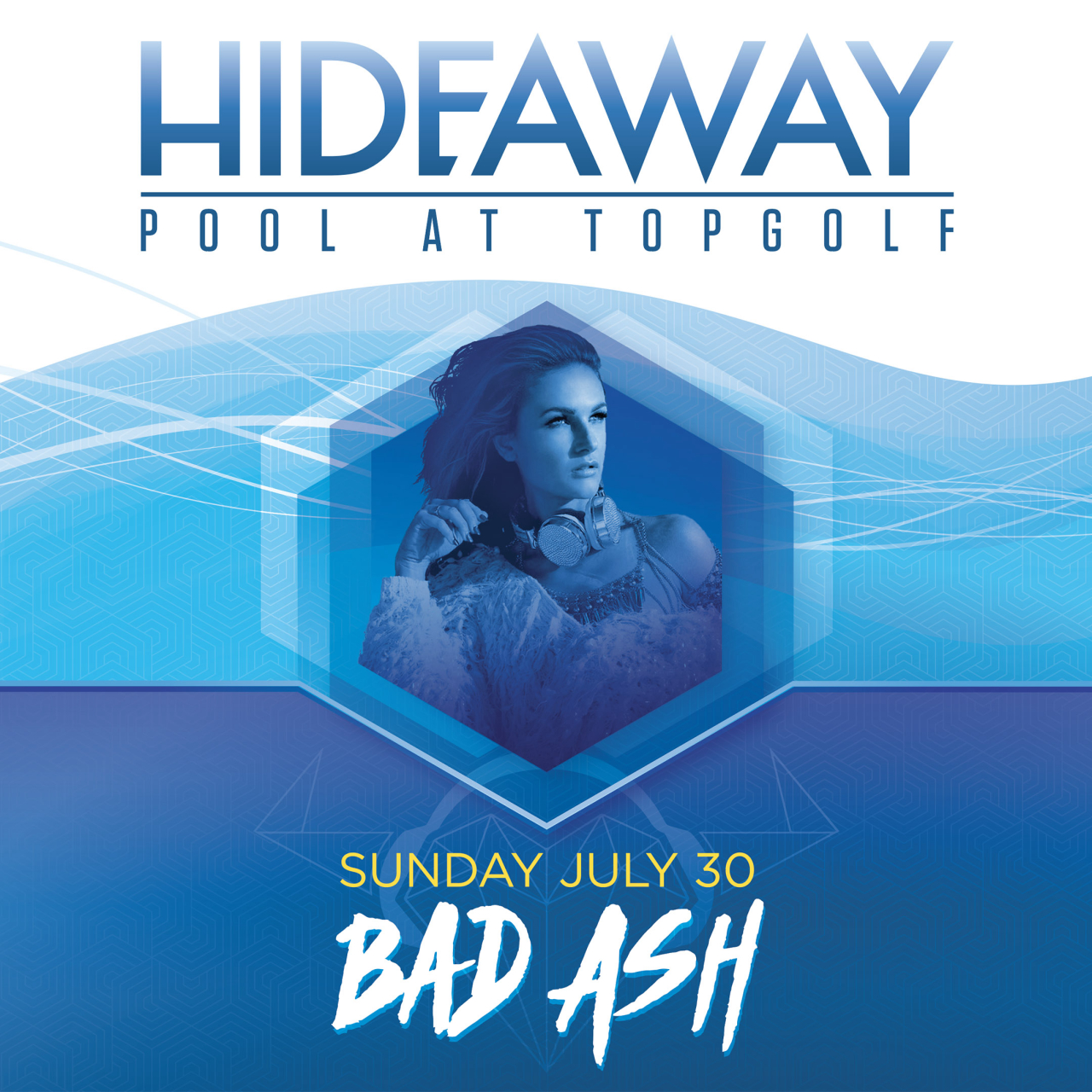 DJ Bad Ash topgolf las vegas pool