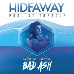 DJ Bad Ash topgolf las vegas pool
