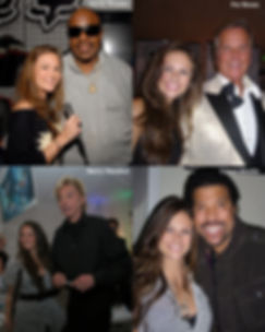 Ashlee Williss at The Grammy's with legends Stevie Wonder, Pat Boone, Barry Manilow, Lionel Ritchie