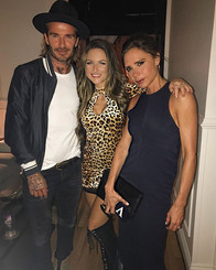 DJ Bad Ash spins David & Victoria Beckham's grand opening party for Ken Paves Salon