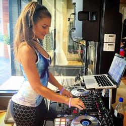 DJ Bad Ash a Athleta event