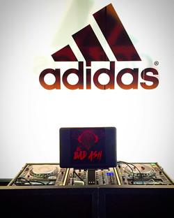 DJ Ba Ash at adidas launch