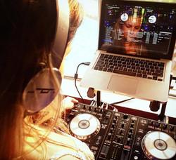 DJ Bad Ash at DJ Felli Fel's party