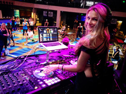 Dj Bad Ash at FLIGHT Workout event