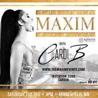 Bad Ash opens for CARDI B at The Maxim Super Bowl Party in Minneapolis, MN