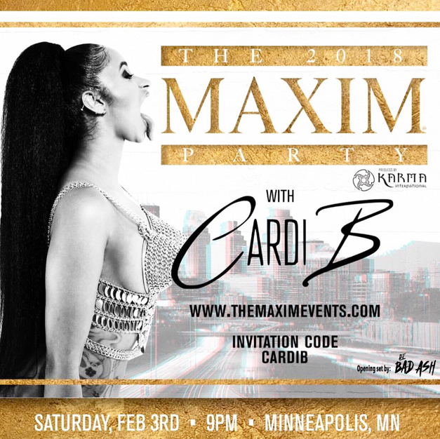 Opened for Cardi B at The Maxim Superbowl Party