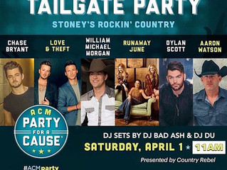 DJ Bad Ash plays the Academy of Country Music Awards' Tailgate Party in Vegas