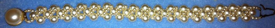 A repaired pearl bracelet demonstrating our restringing services at our shop in Ramsey in Cambidgeshire