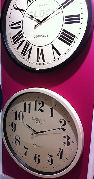 Sample of our wall clocks that we have for sale in our shop in Ramsey Cambridgeshire