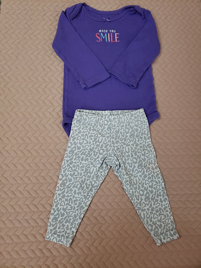 6 month Purple Made You Smile Outfit