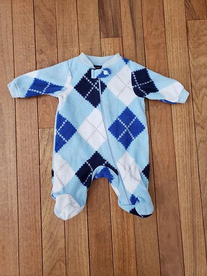 Preemie Faded Glory Fleece Blue Sleeper