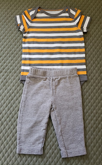 3 month Orange Striped Outfit