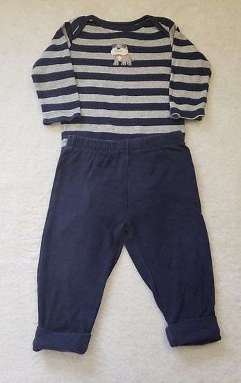 6 month Carter's Navy Dog Outfit