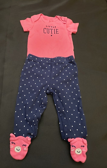3 month Carter's Little Cutie matching Outfit