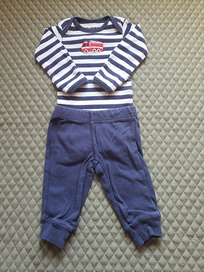 NB Carter's Fire Truck Outfit