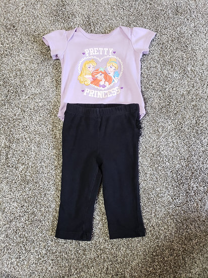 6-9 month Purple Pretty Princess Outfit
